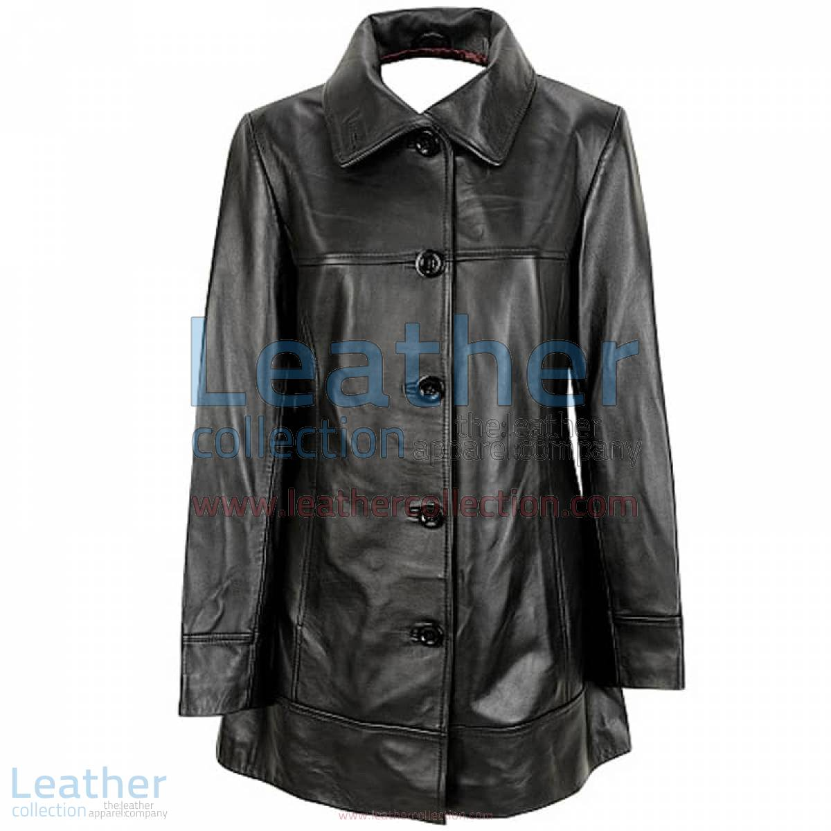 6 Button Leather Coat | cheap coat,button coat