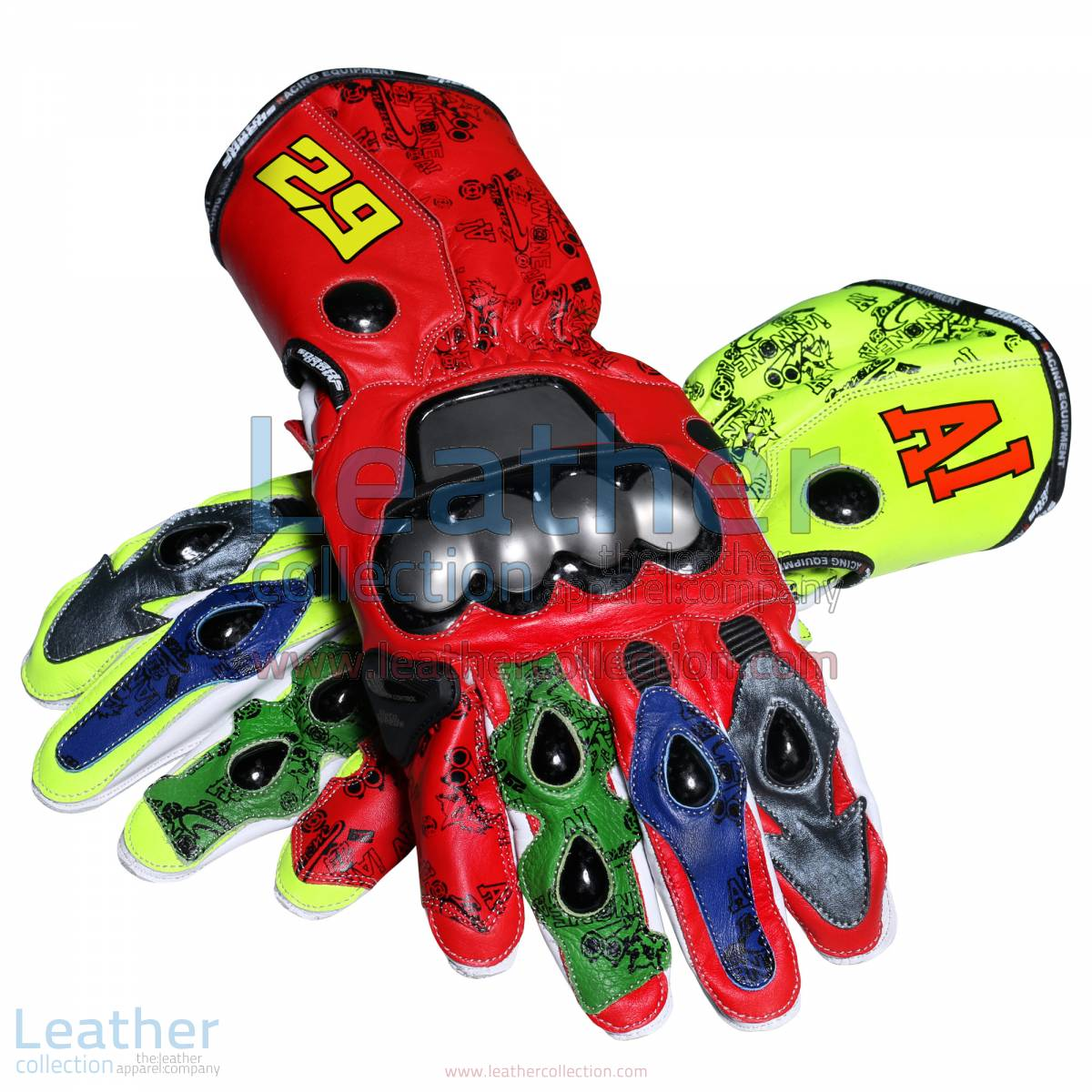 Andrea Iannone 2013 Leather Motorbike Gloves | motorcycle gloves,Andrea Iannone