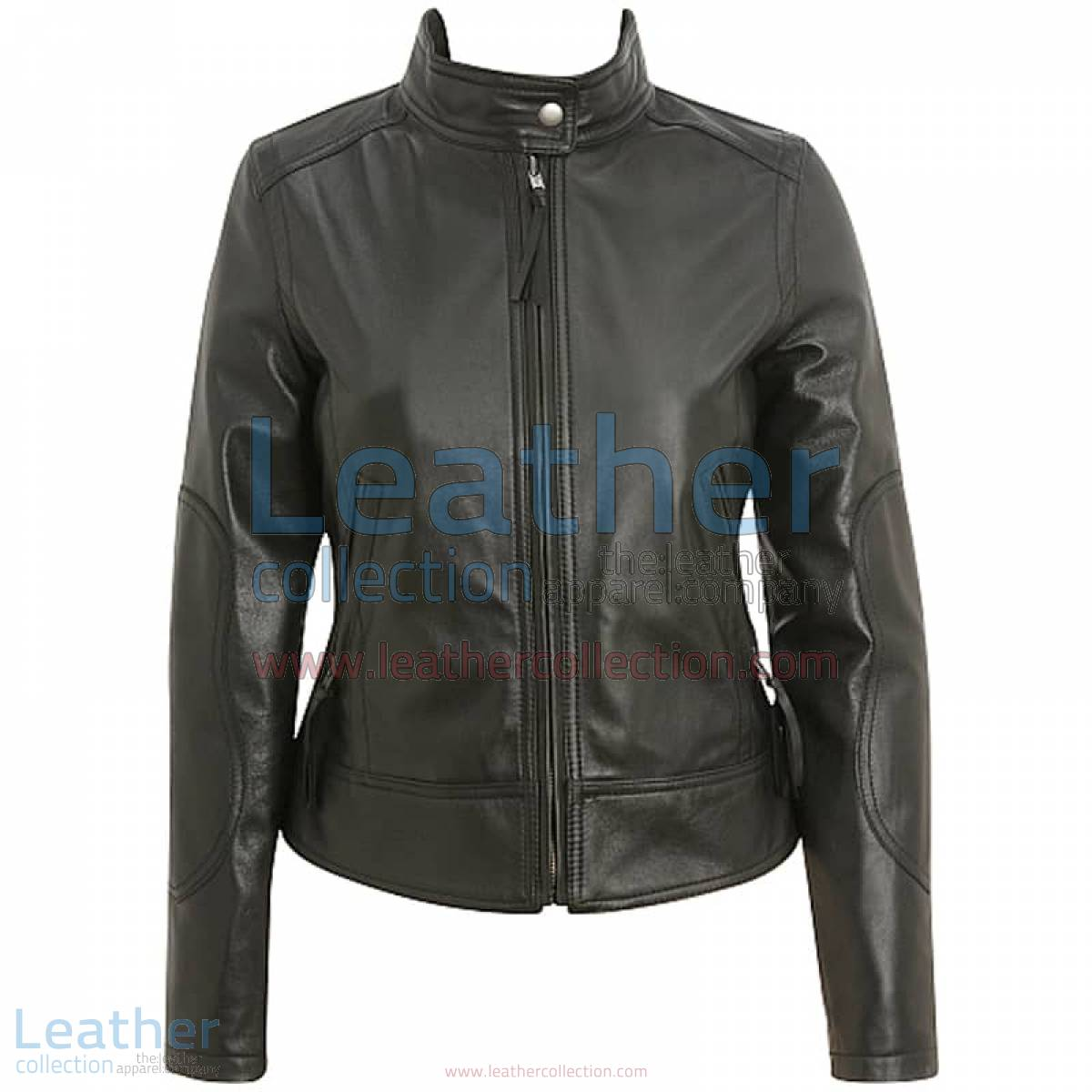 Band Collar Leather Motorcycle Jacket | leather motorcycle jacket,band collar jacket