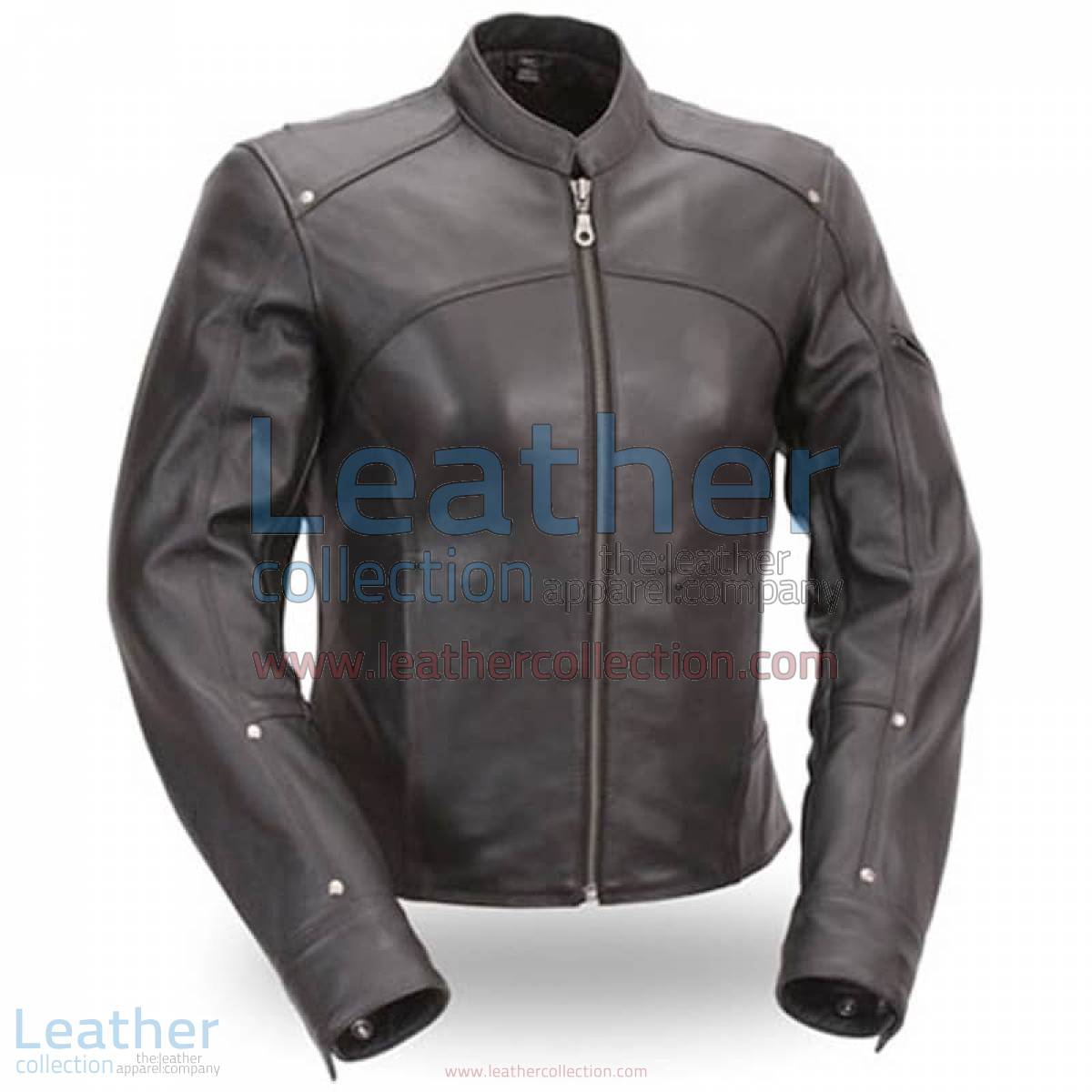 Black Leather Touring Motorcycle Jacket | touring jacket,touring motorcycle jacket