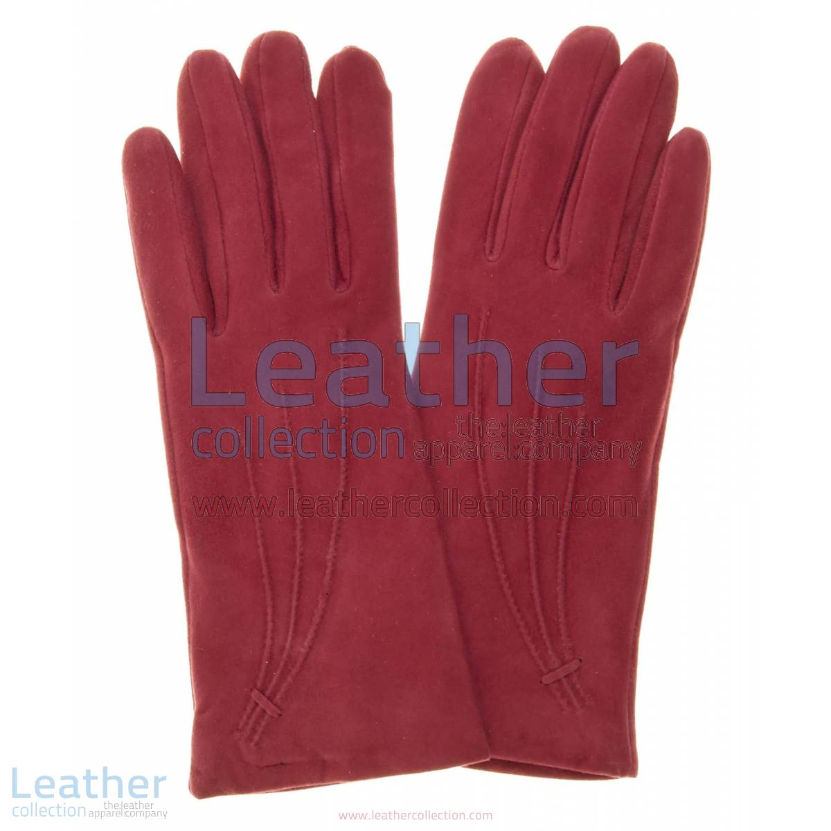 Ladies Claret Cashmere Lined Suede Gloves | ladies cashmere gloves,suede gloves