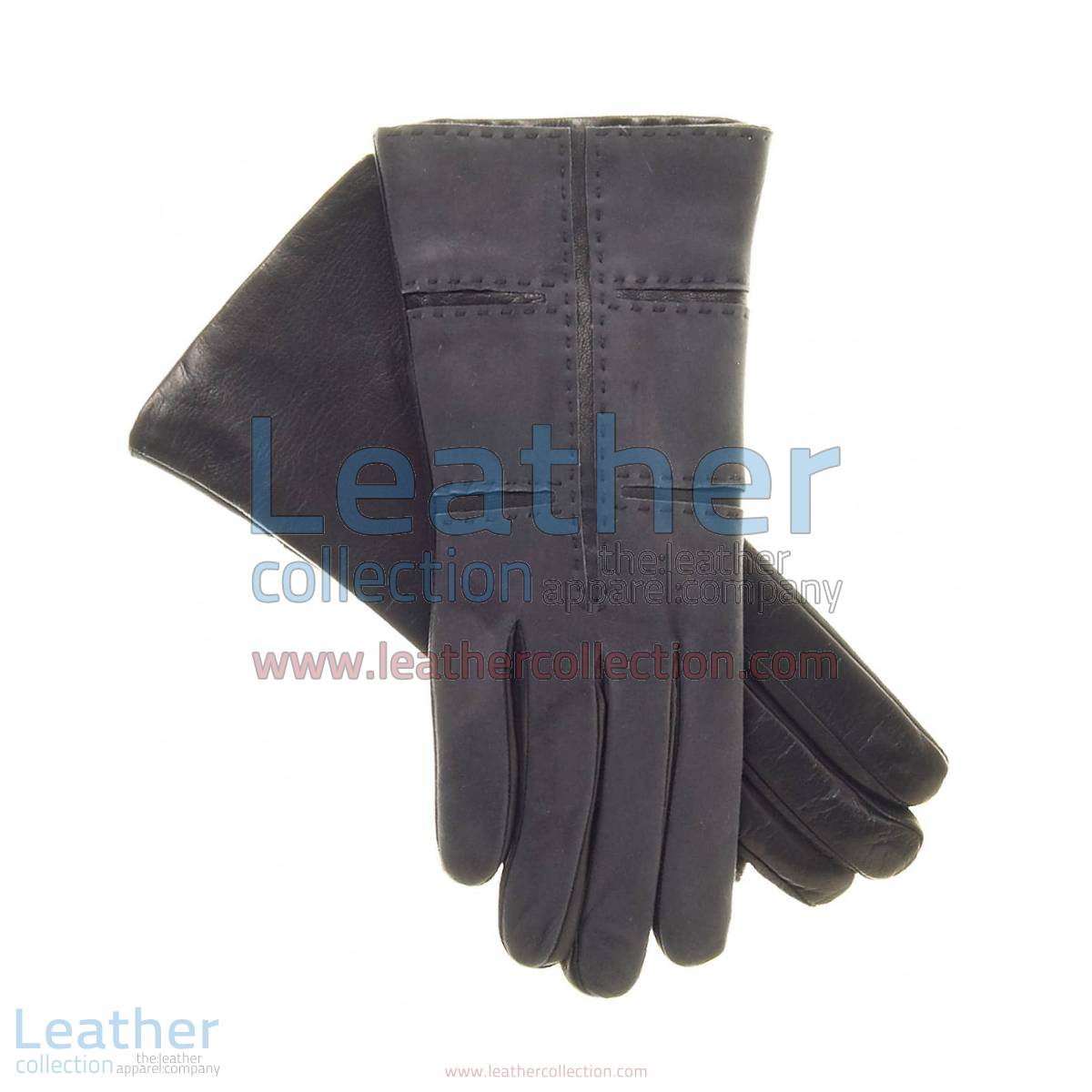 Ladies Grey Suede and Lamb Leather Gloves | grey leather gloves,suede gloves ladies