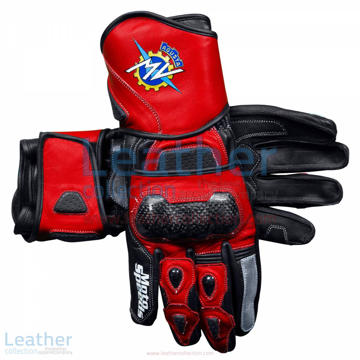 MV Agusta 2017 Leather Motorcycle Gloves | MV Agusta gloves,MV Agusta 2017 Leather Motorcycle Gloves