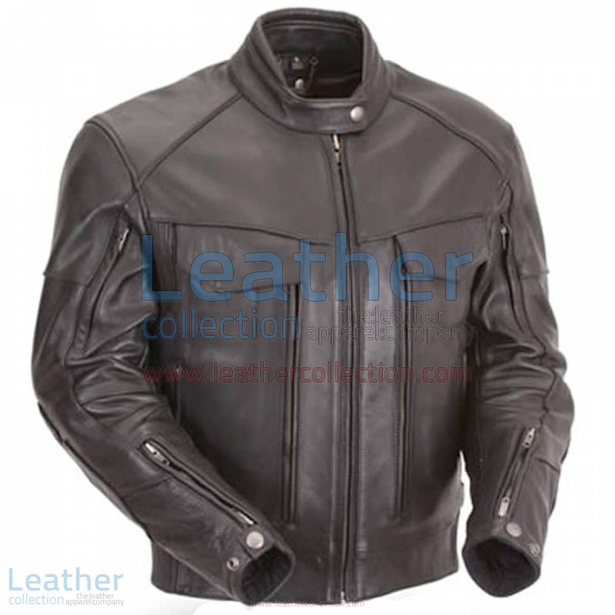 Naked Leather Riding Jacket with Gun Pockets & Side Stretch Panels | riding jacket,leather riding jacket