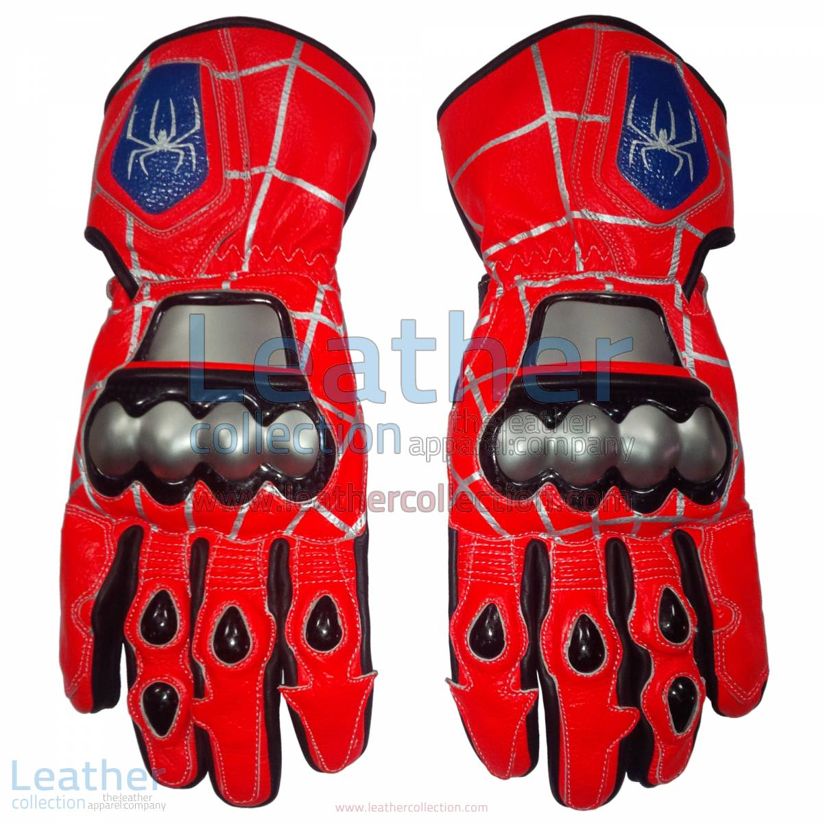 Spiderman Leather Motorbike Race Gloves | spiderman gloves,Spiderman leather motorcycle race gloves