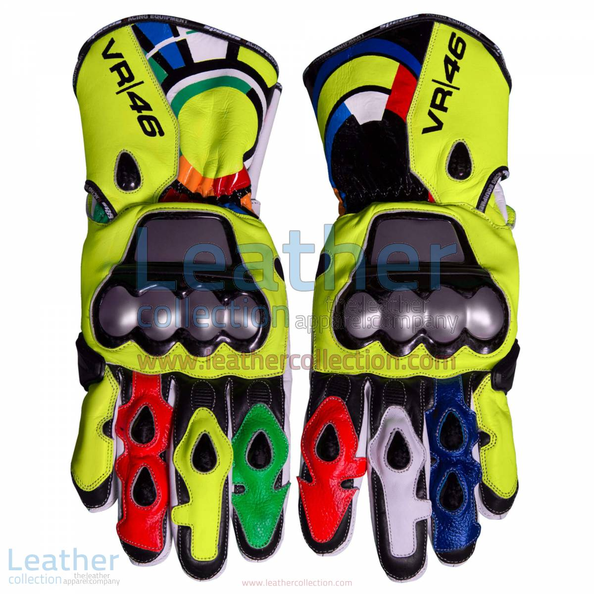 Valentino Rossi 2012 Leather Racing Gloves | leather racing gloves,valentino rossi gloves