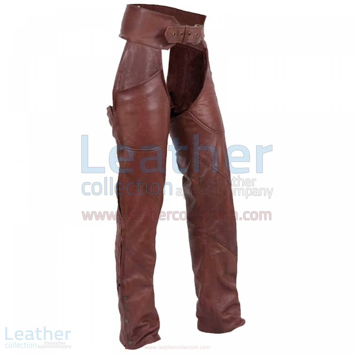 Antique Brown Leather Motorcycle Chaps –  Chap