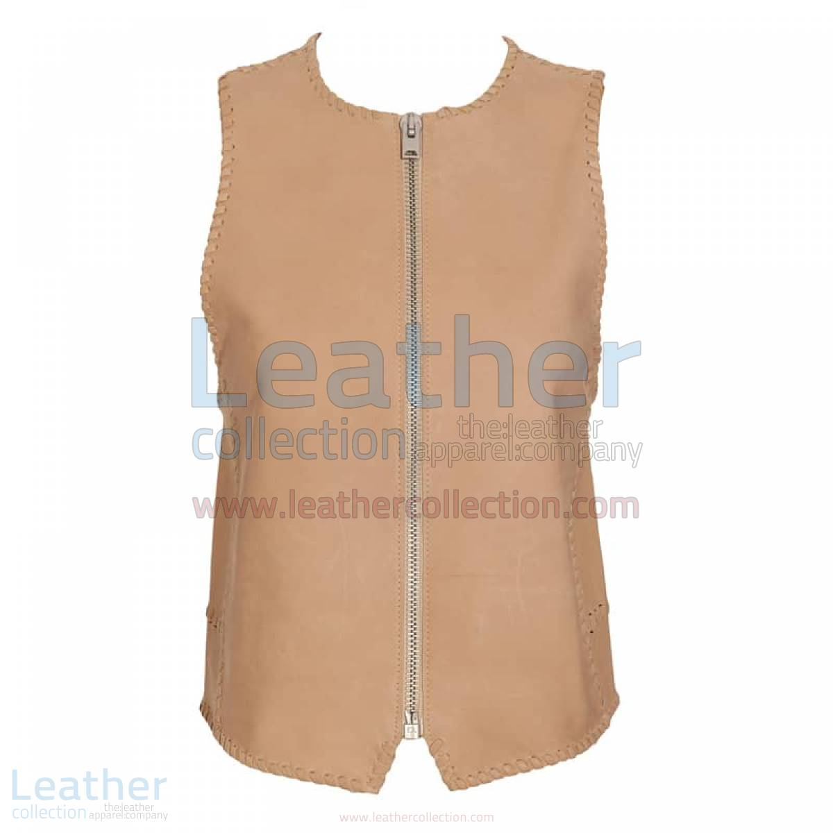 Braided Fashion Leather Vest –  Vest