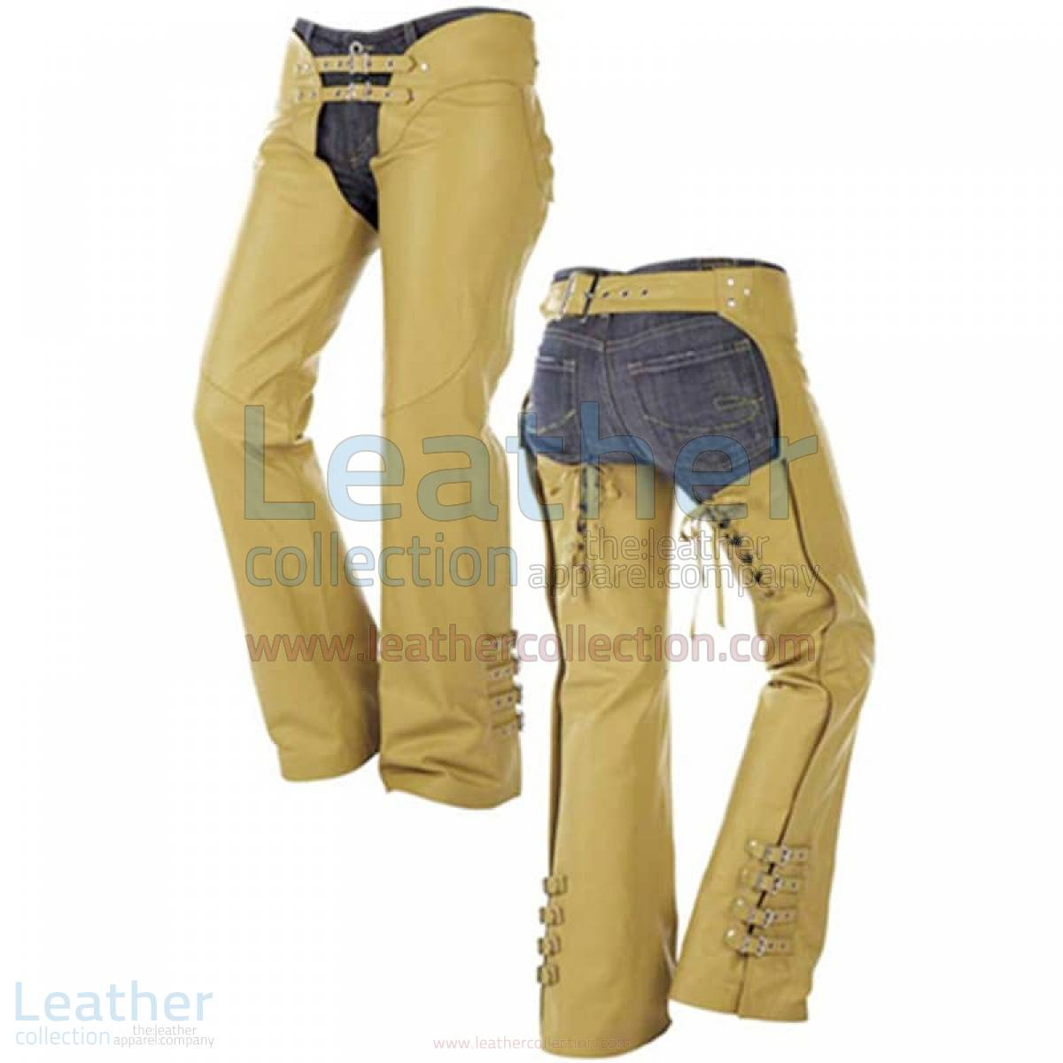 Buckles on Legs Leather Cowboy Chaps