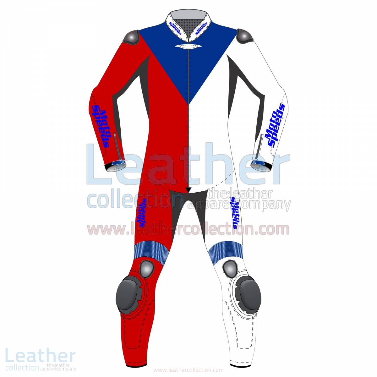 Czech Republic Flag Moto Leathers –  Suit
