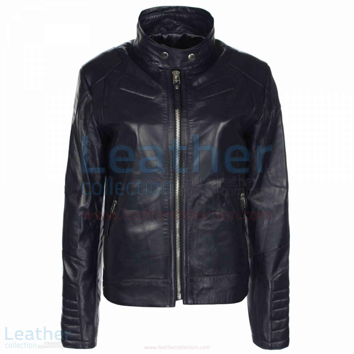 Deuce Classic Leather Biker Jacket Mens