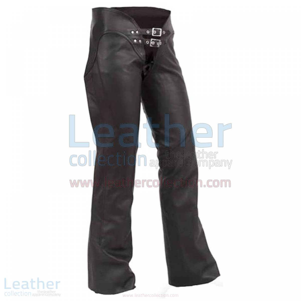 Double Belted Ladies Leather Chaps