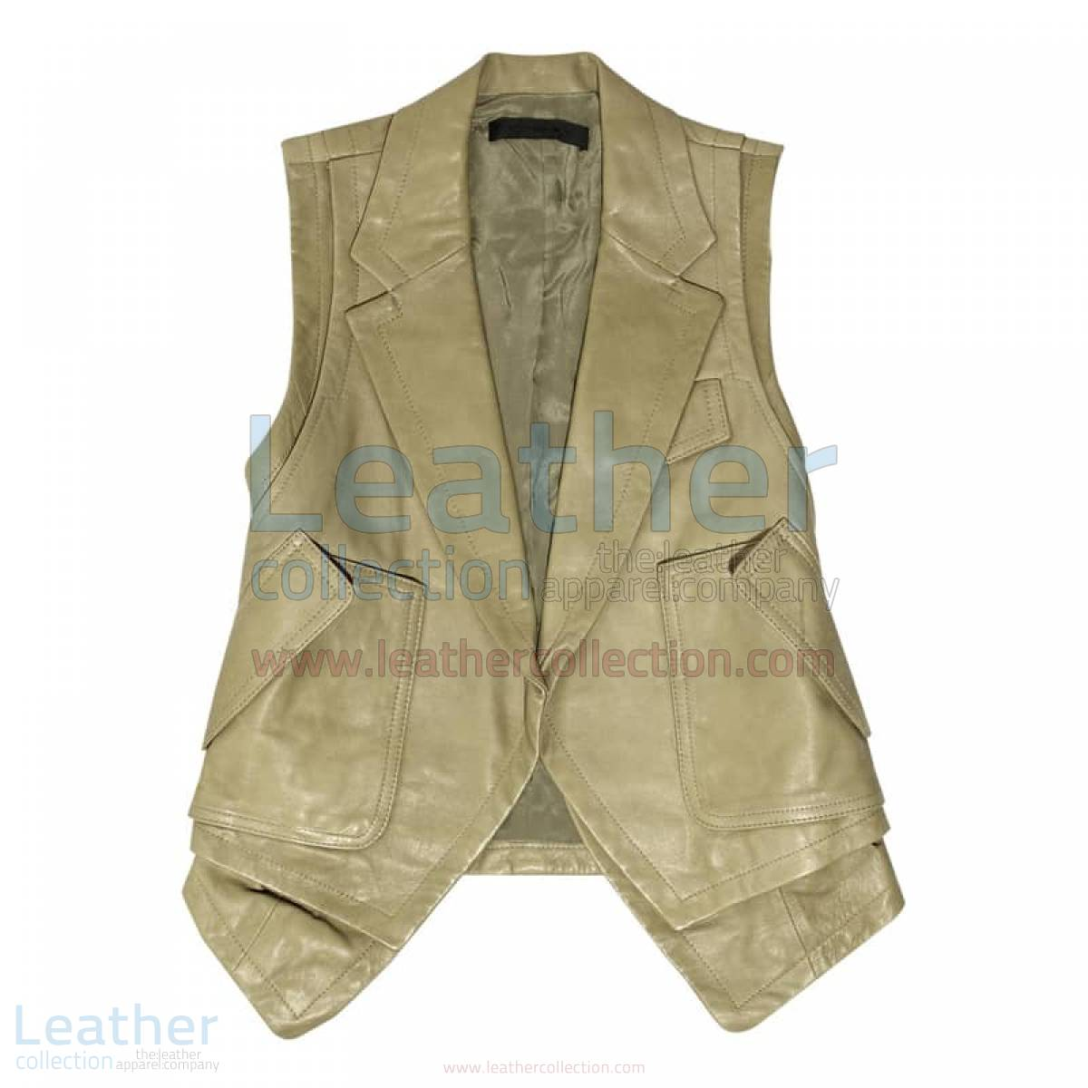 Fashion Leather Vest Coat –  Vest
