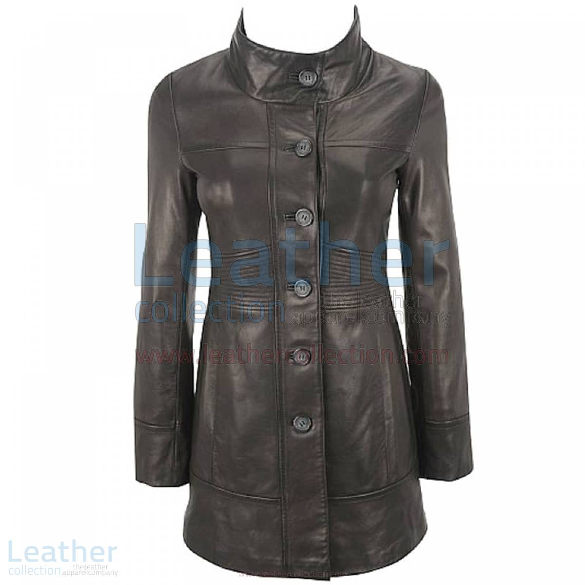 Ladies 3/4 Length Coat With Trapunto Stitched Waist –  Coat