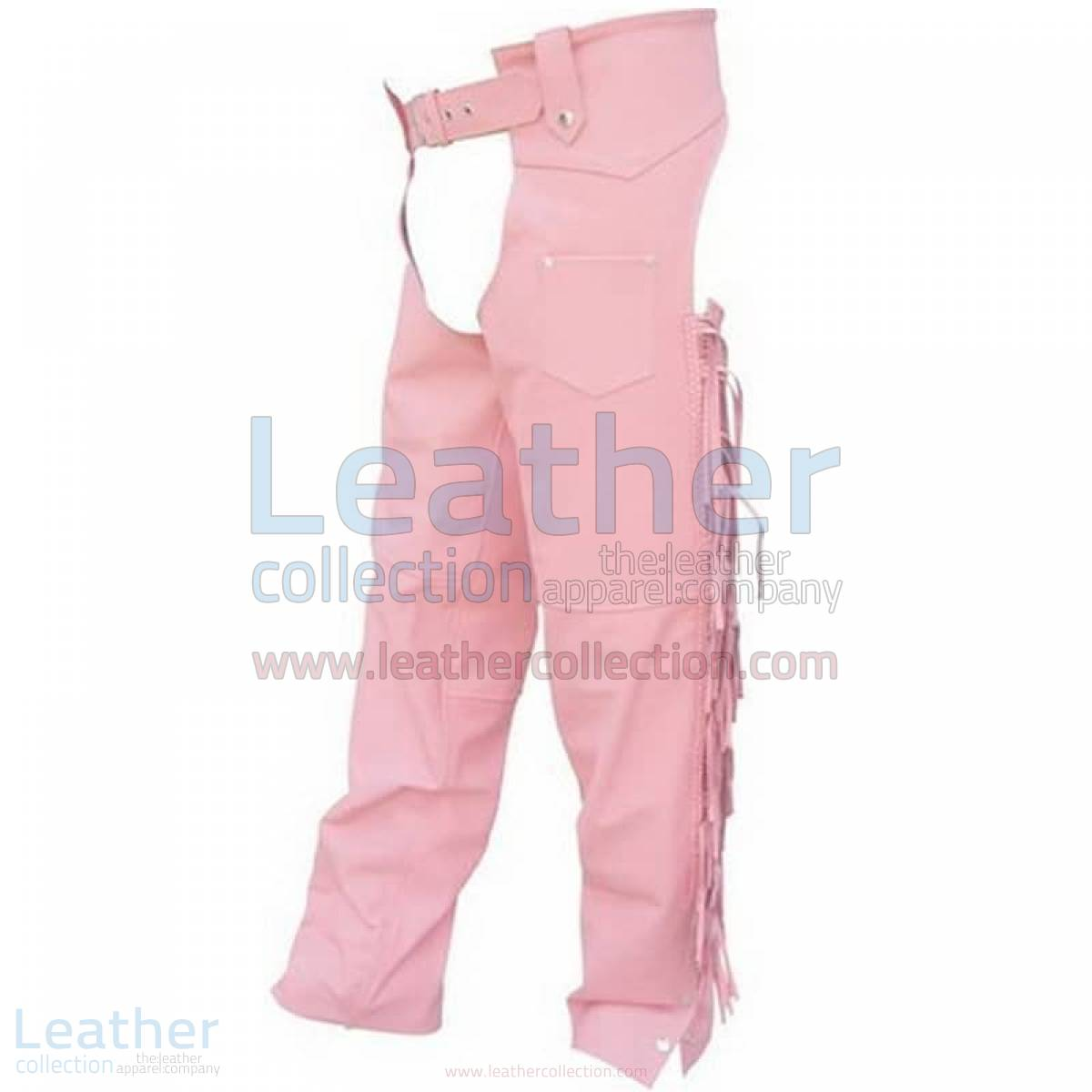Ladies Pink Braided Leather Chaps –  Chap