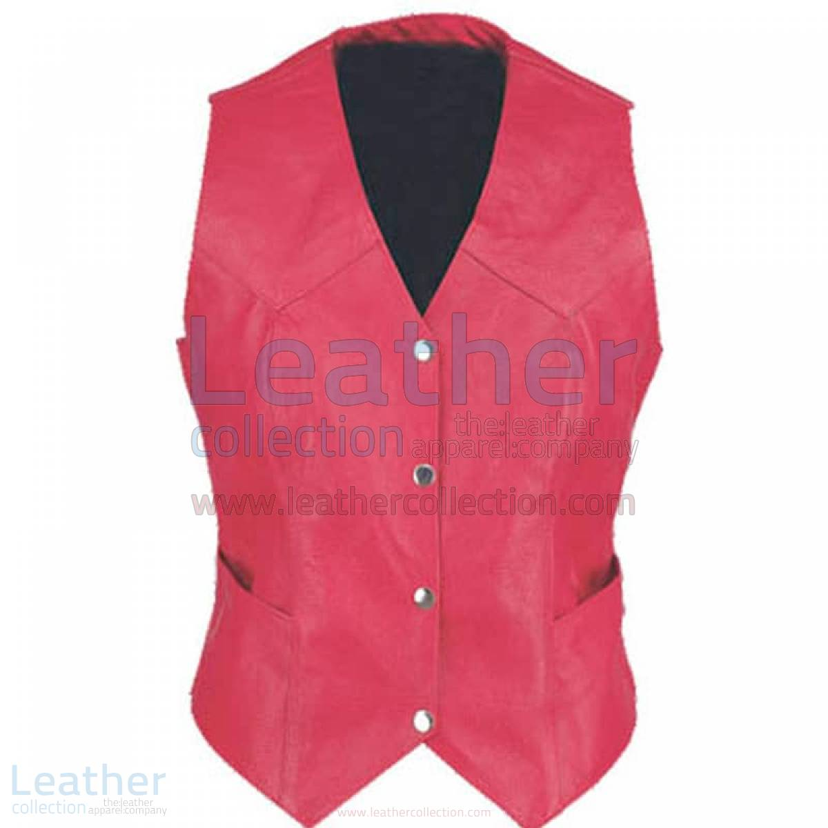 Ladies Vintage Fashion Leather Vest –  Vest