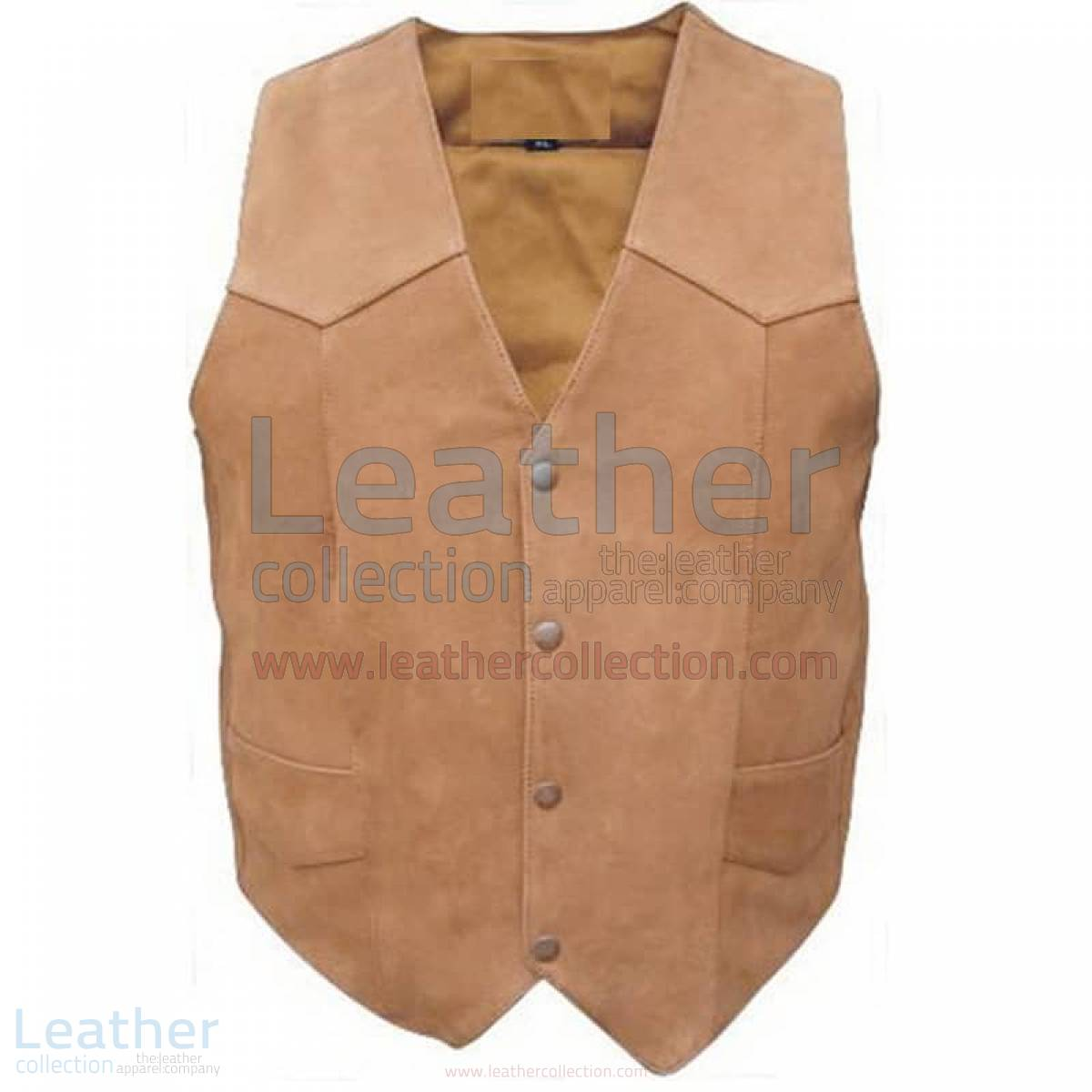 Men's Gun Pocket Leather Vest –  Vest