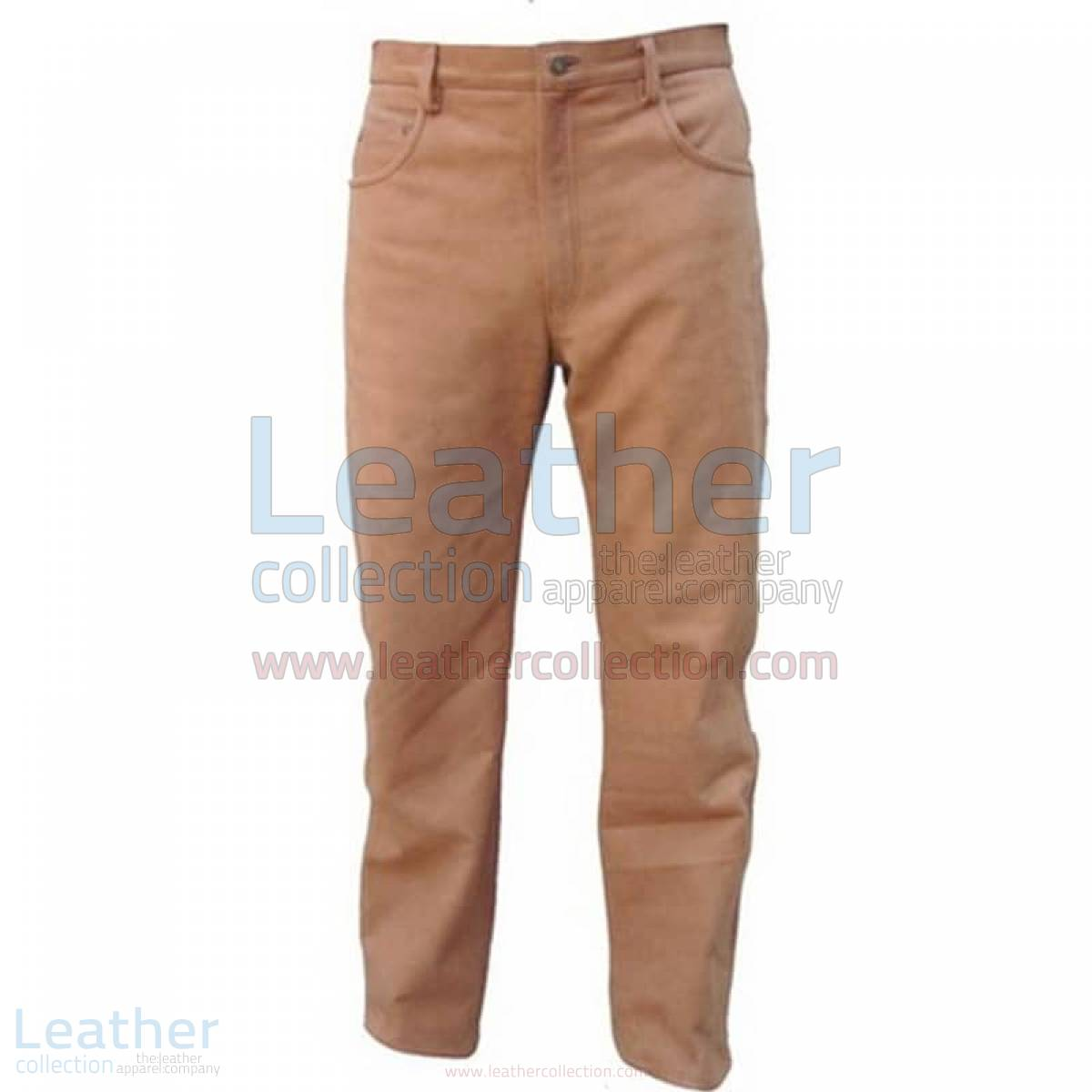 Five Pocket Mens Leather Pants –  Pant