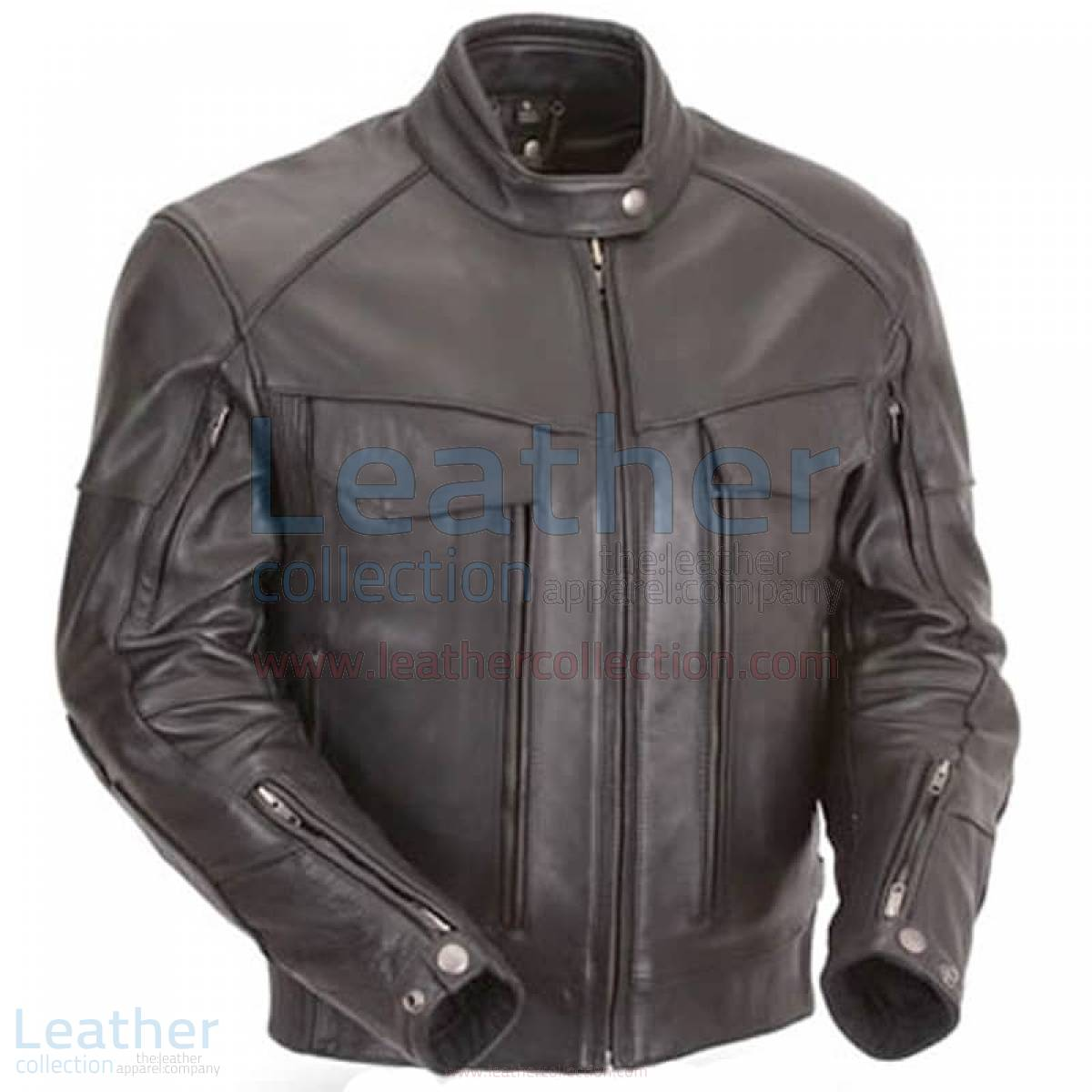 Naked Leather Riding Jacket with Gun Pockets & Side Stretch Panels –  Jacket