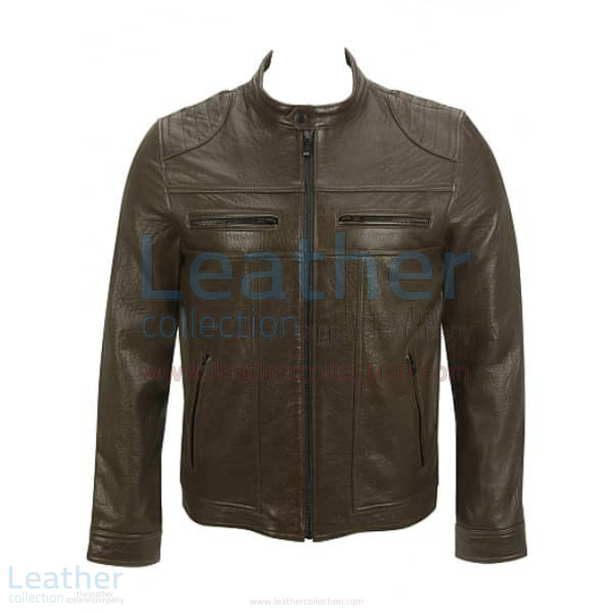 Saddle Shoulder Antique Leather Jacket –  Jacket
