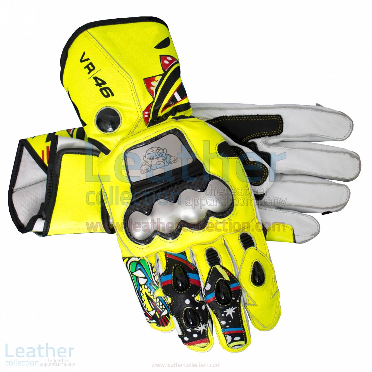 Valentino Rossi 2010 Motorcycle Gloves – Ducati Gloves