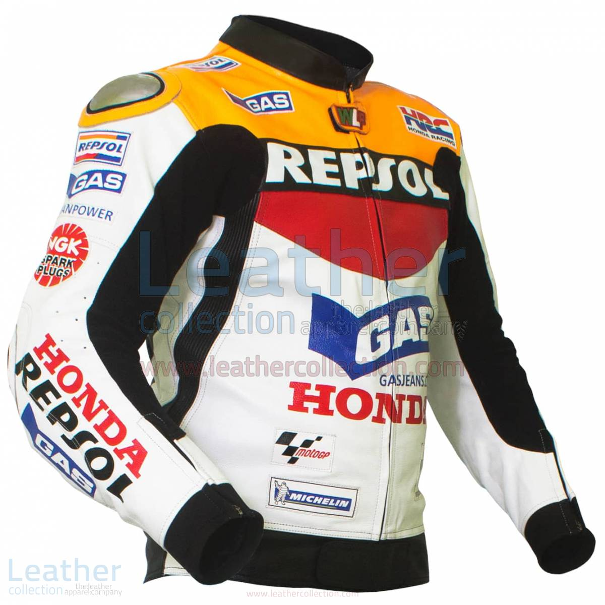 Valentino Rossi Repsol Honda MotoGP 2003 Leather Jacket