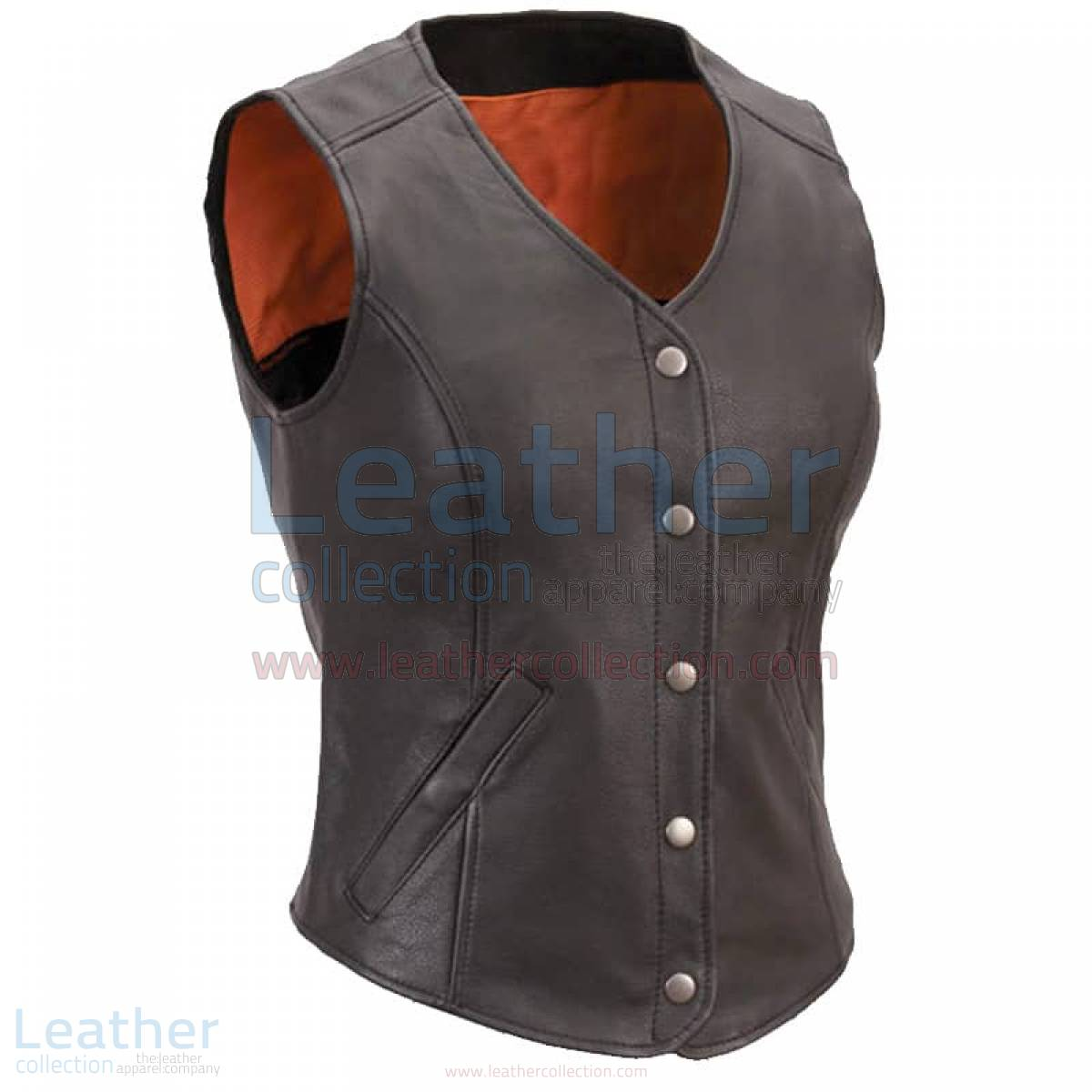 Women Leather Motorcycle Vest –  Vest