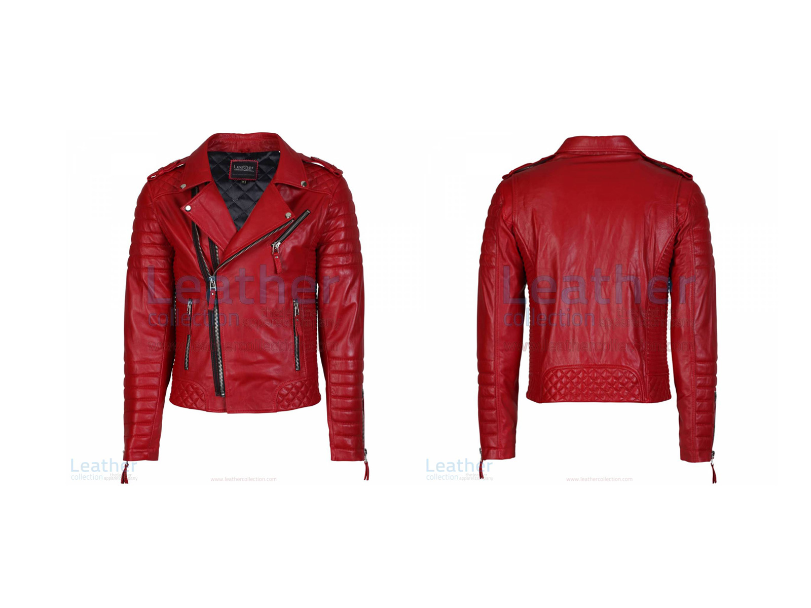 QUILTED LEATHER MOTORCYCLE JACKET