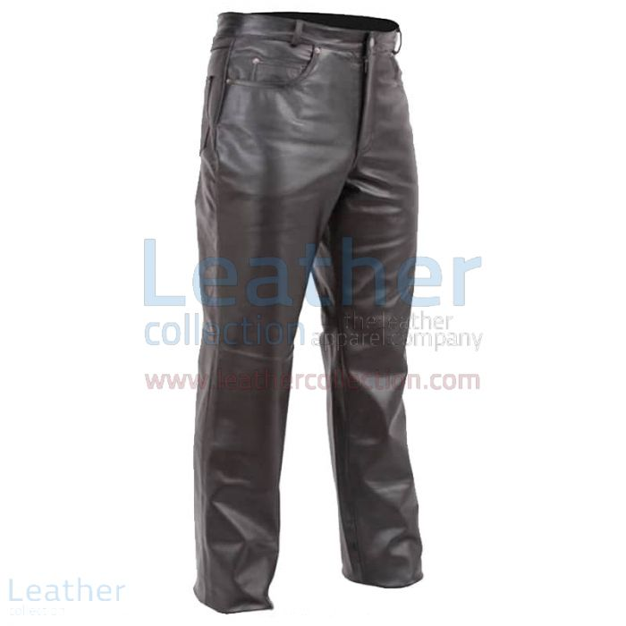 Shop for Black Premium Biker Leather Chaps for CA$163.75 in Canada