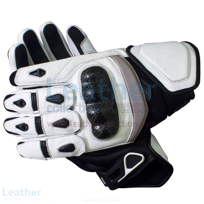 Black & White Short Motorcycle Gloves – Short Motorcycle Gloves