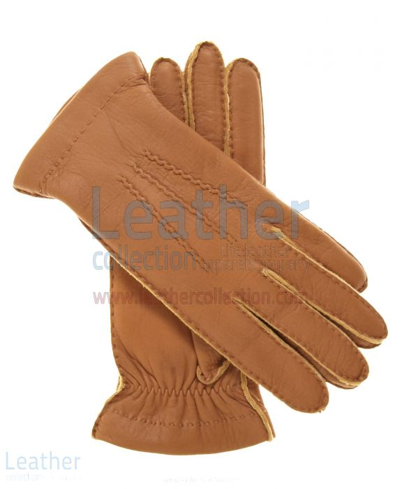 Wool Lined Lambskin Gloves – Cashmere Lined Leather Gloves