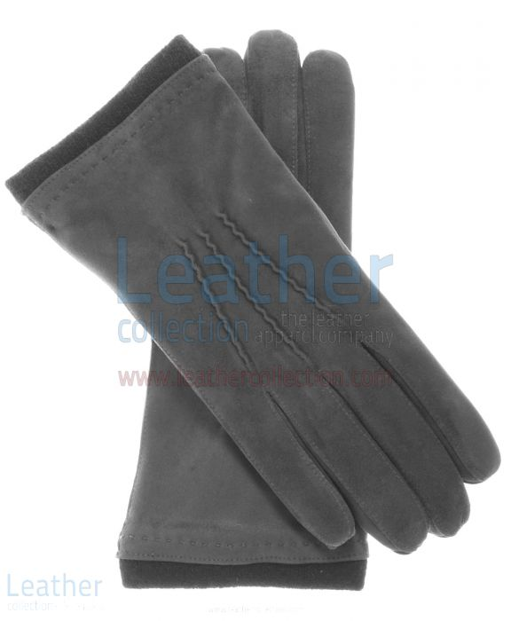 Pick up Cashmere Wool Lined Grey Suede Gloves for A$87.75 in Australia