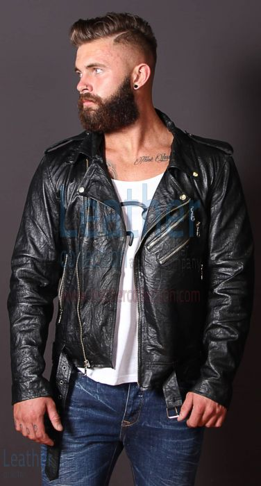 Leather Jacket Fashion Men | Leather Jacket Wrinkles