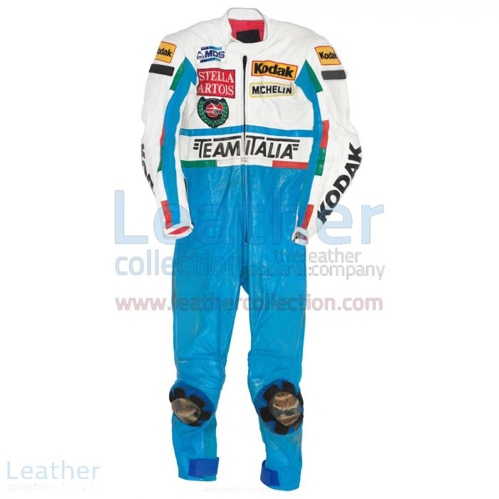 Customize Fausto Gresini Garelli GP 1987 Motorbike Suit for $899.00