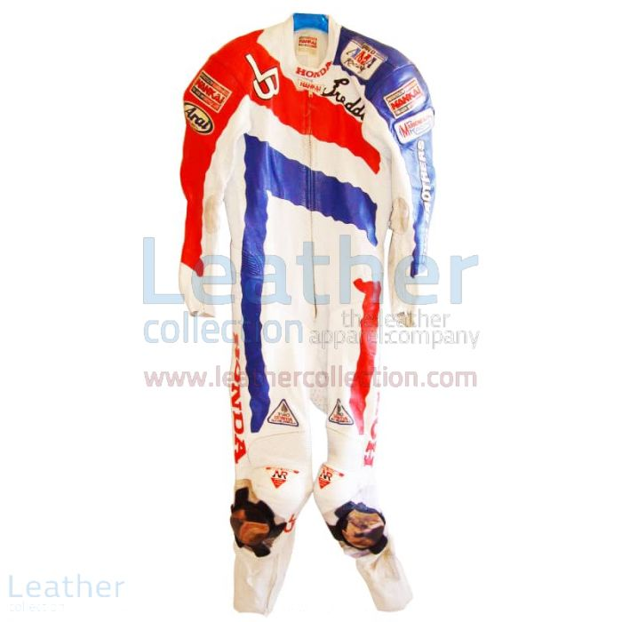 Get Now Freddie Spencer Honda Motorcycle AMA 1991 Leathers for ¥100,6
