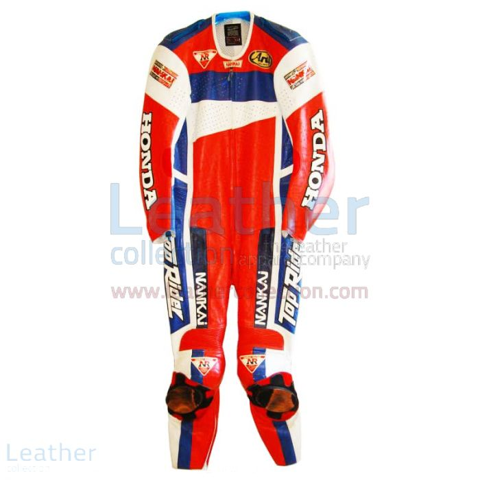 Freddie Spencer Nankai Honda Motorcycle GP 1991 Leathers front
