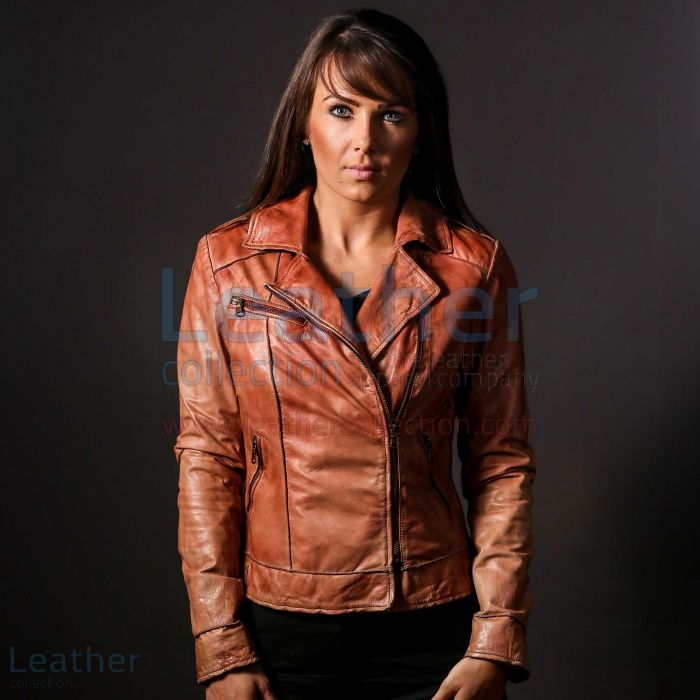 Customize Now Ginger Leather Jacket for Women for SEK6,336.00 in Swede