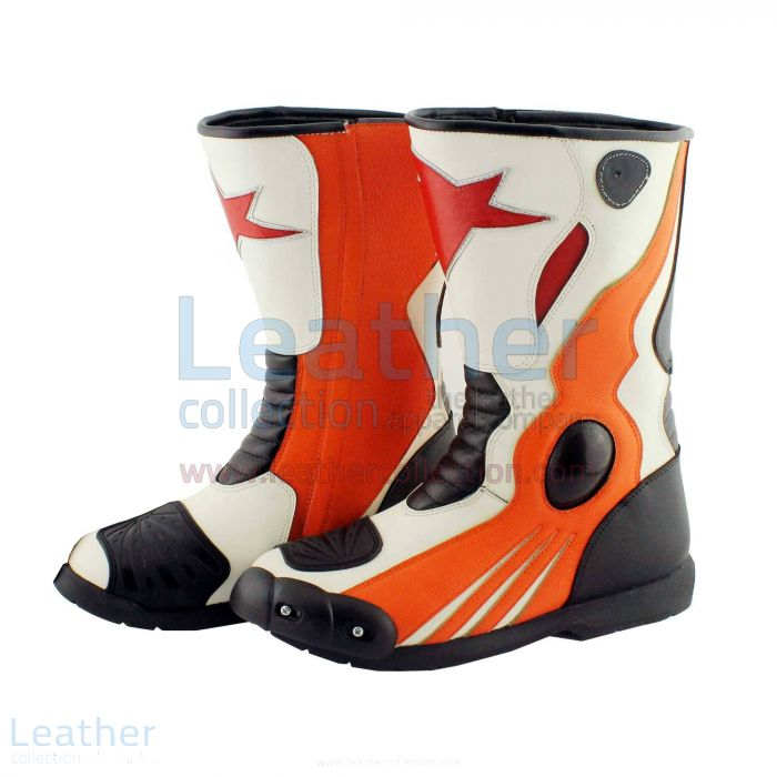Honda Repsol Leather Motorbike Boots
