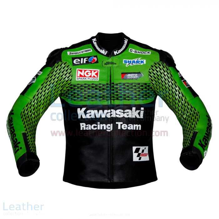 Grab Now Kawasaki Racing Team Leather Jacket for CA$419.20 in Canada