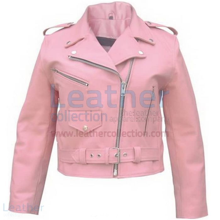 Purchase Online Ladies Pink Girls Motorcycle Jacket for $199.00