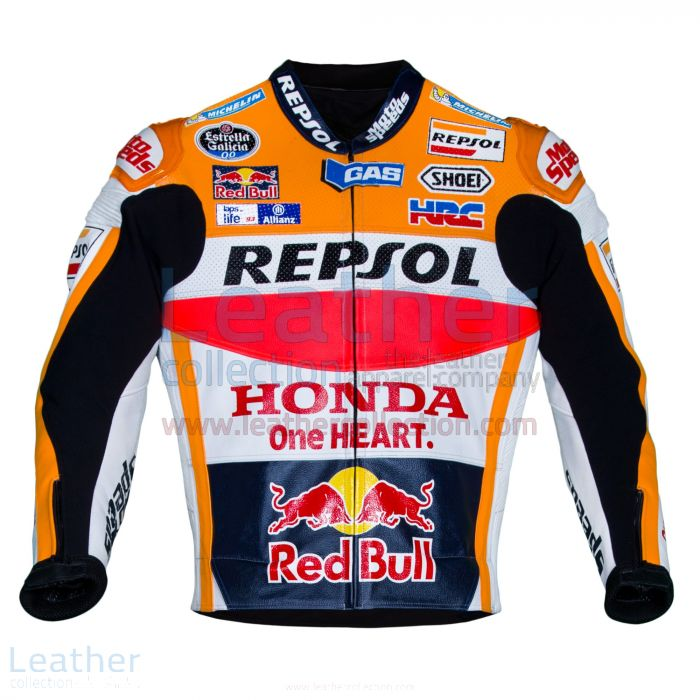 Marc Marquez Honda Repsol MotoGP 2016 Leather Jacket front