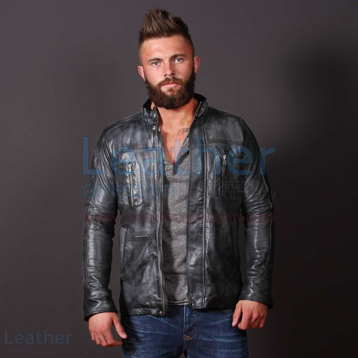 Purchase Now Men Casual Fashion Leather Frost Jacket for CA$838.40 in