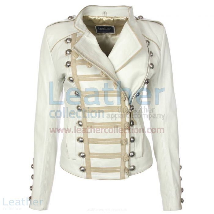 Customize Princess Leather Jacket White for $349.00