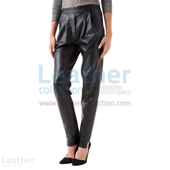 Order Now Ladies Leather Relaxed Pants
