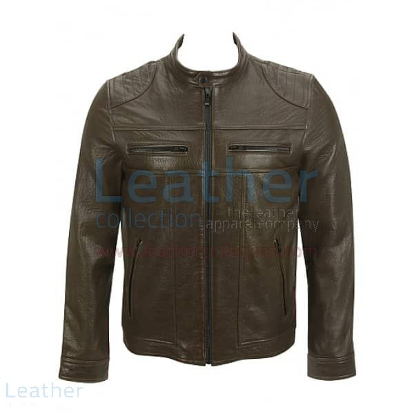 Pick it up Saddle Shoulder Antique Leather Jacket for CA$260.69 in Can