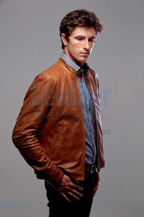 Buy Slick Leather Jacket Men Fashion
