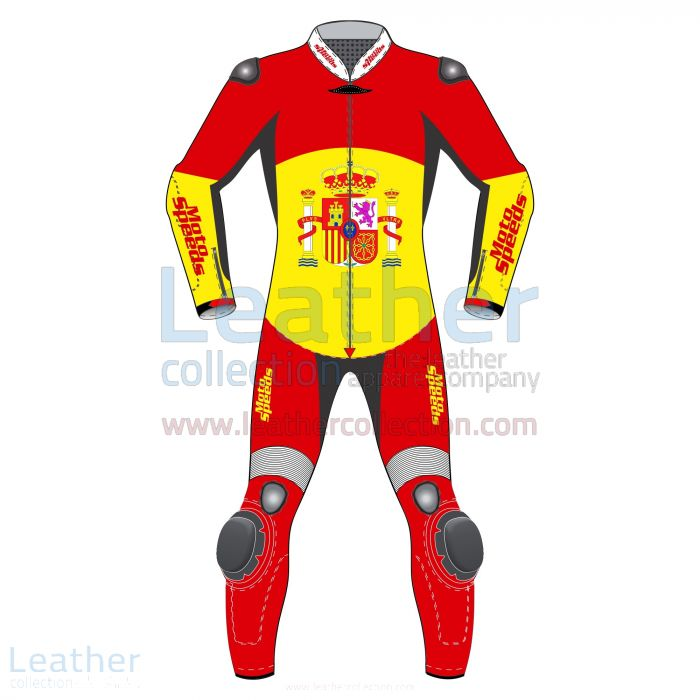 Race Suit Spain Rounded Flag Front View