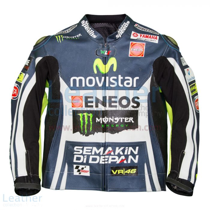 Valentino Rossi Movistar Yamaha M1 Leather Jacket front