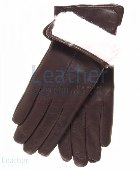 White Fur Lined Gloves | Buy Now | Leather Collection