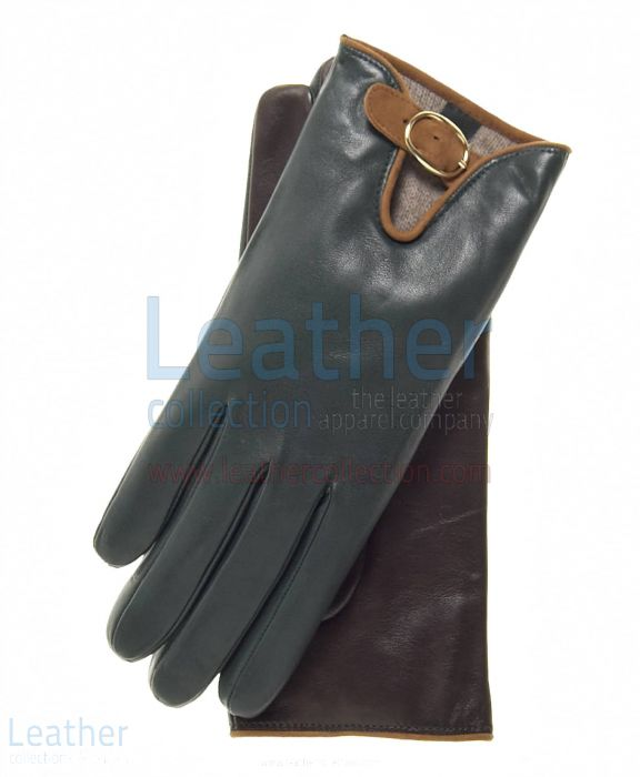 Customize Wool Lined Buckled Gloves for Ladies for $55.00